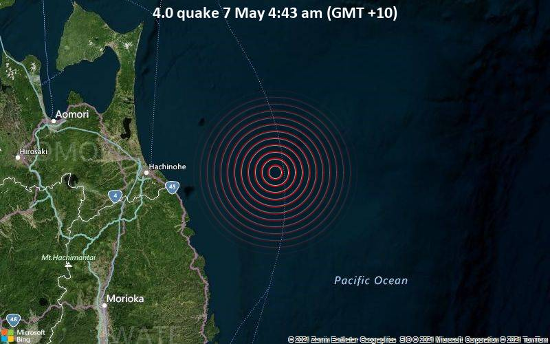 4.0 quake 7 May 4:43 am (GMT +10)
