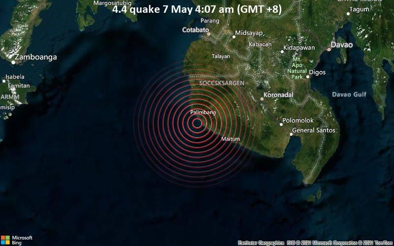 4.4 quake 7 May 4:07 am (GMT +8)