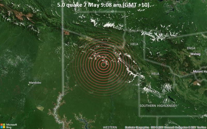 5.0 quake 7 May 9:08 am (GMT +10)