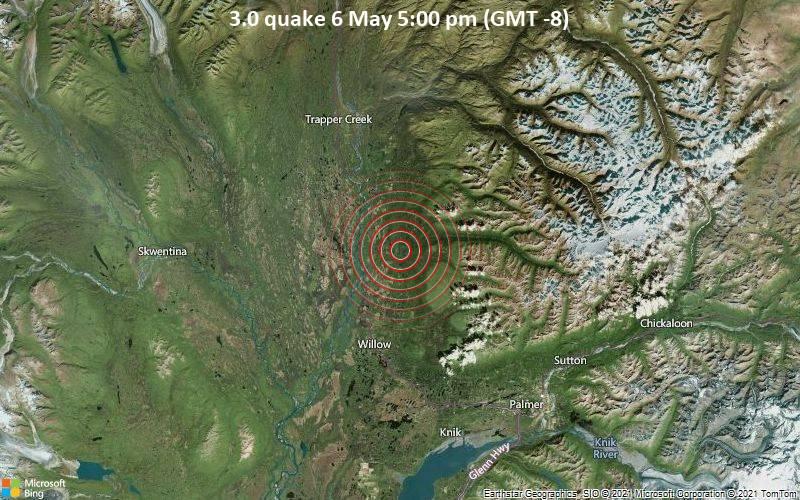 3.0 quake 6 May 5:00 pm (GMT -8)