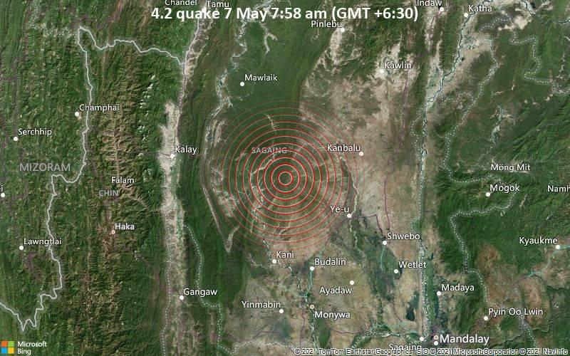 4.2 quake 7 May 7:58 am (GMT +6:30)