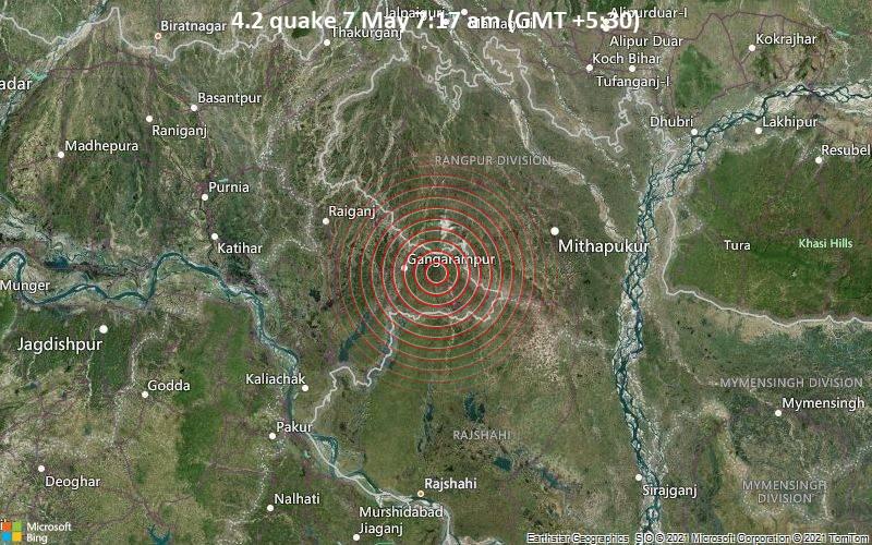 4.2 quake 7 May 7:17 am (GMT +5:30)