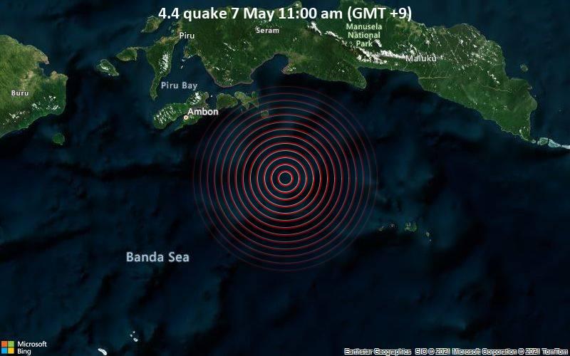 4.4 quake 7 May 11:00 am (GMT +9)