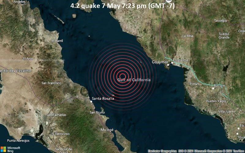 4.2 Gempa bumi 7 Mei 19:23 (GMT -7)