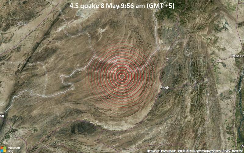 4.5 quake 8 May 9:56 am (GMT +5)