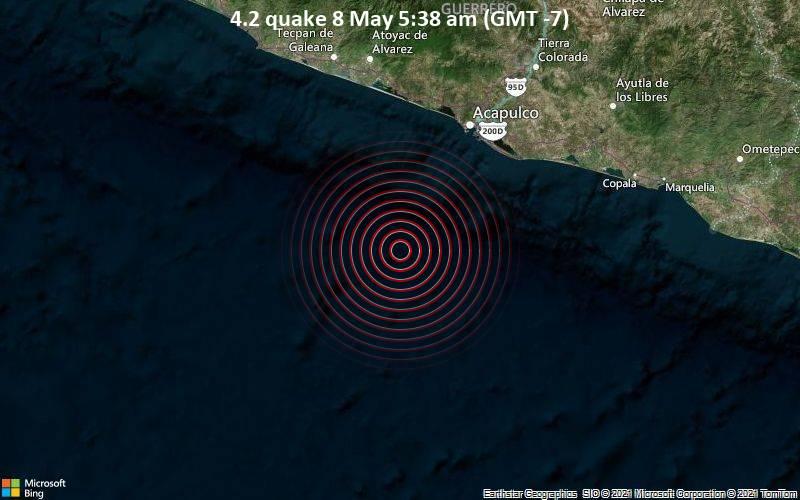 4.2地震5月8日午前5時38分(GMT -7)