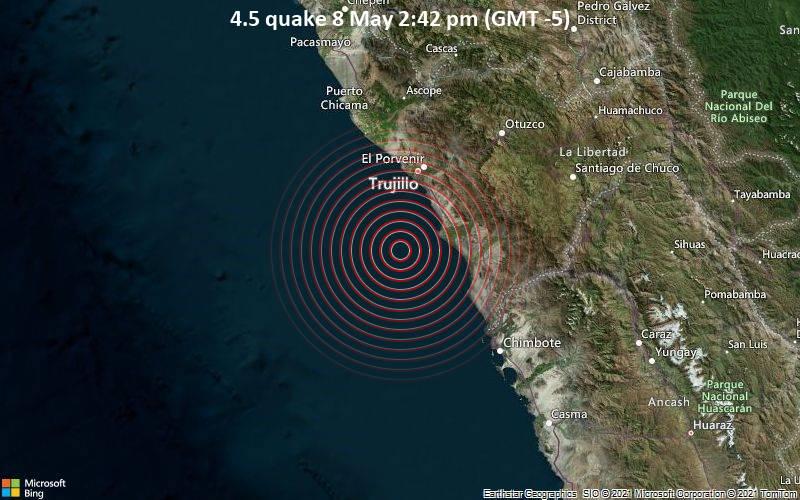 4.5 quake 8 May 2:42 pm (GMT -5)