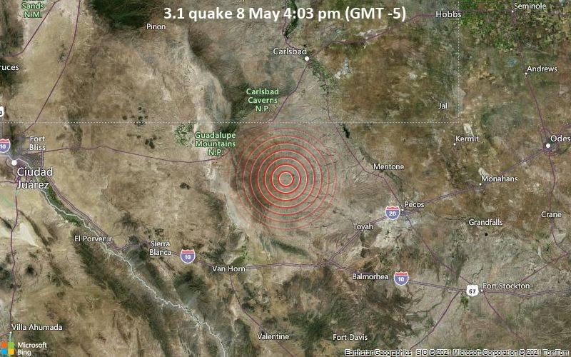 3.1 quake 8 May 4:03 pm (GMT -5)