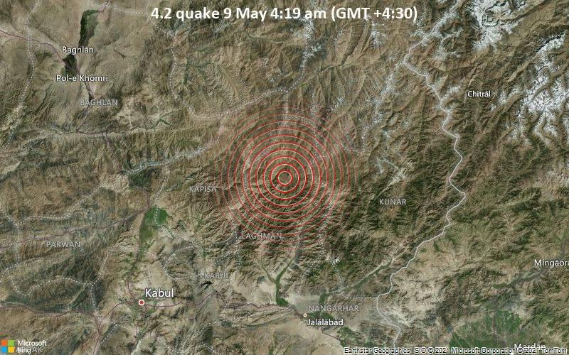4.2 quake 9 May 4:19 am (GMT +4:30)