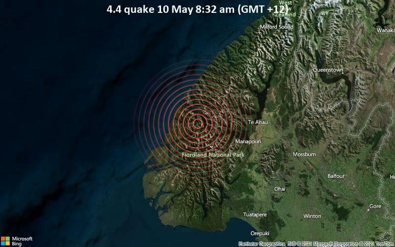 4.4 quake 10 May 8:32 am (GMT +12)