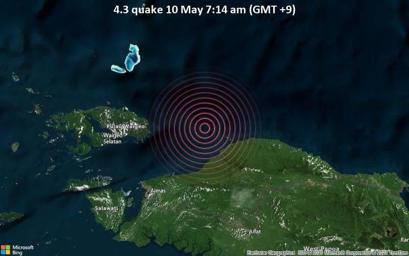 4.3 quake 10 May 7:14 am (GMT +9)