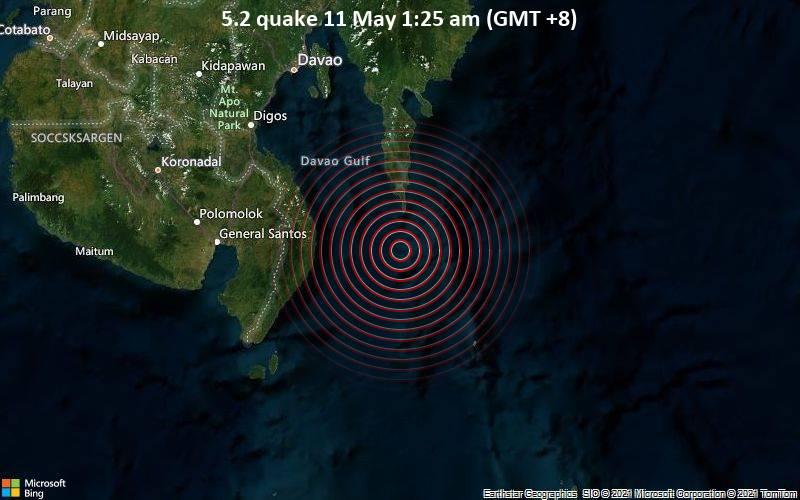 5.2 quake 11 May 1:25 am (GMT +8)