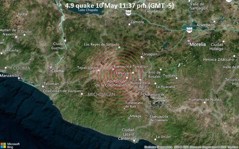 4.9 quake 10 May 11:37 pm (GMT -5)