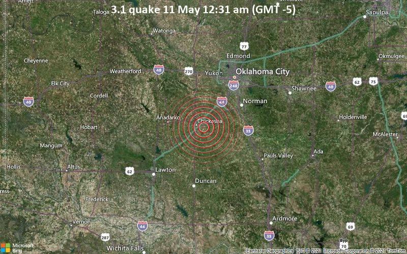 3.1 quake 11 May 12:31 am (GMT -5)