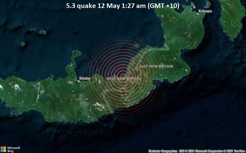 5.3 quake 12 May 1:27 am (GMT +10)