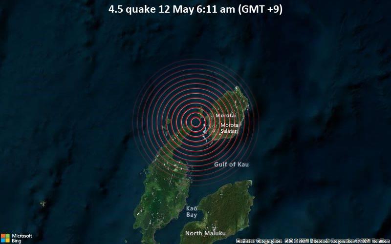 4.5 quake 12 May 6:11 am (GMT +9)