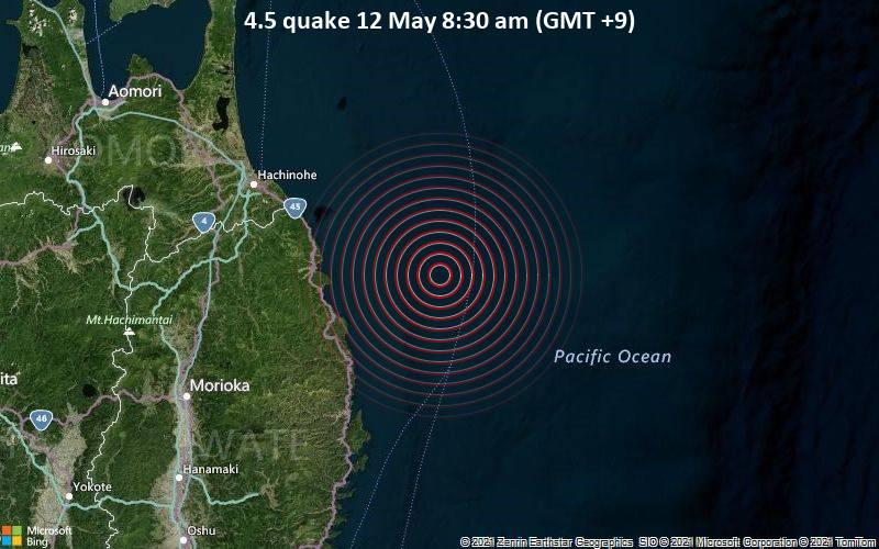4.5 quake 12 May 8:30 am (GMT +9)