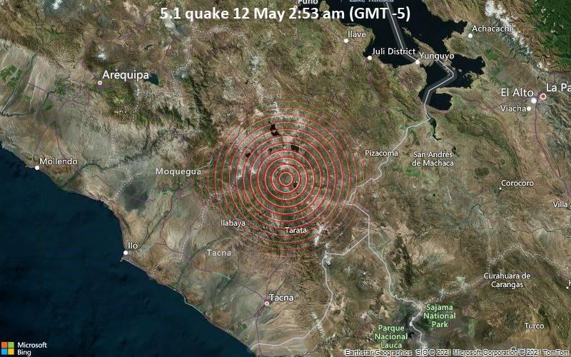 5.1 quake 12 May 2:53 am (GMT -5)
