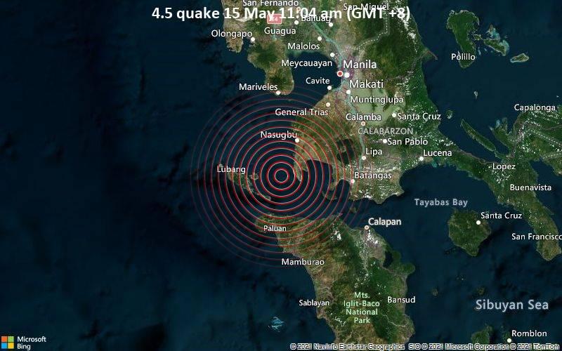 4.5 quake 15 May 11:04 am (GMT +8)