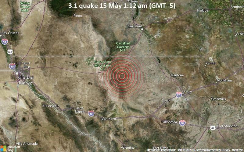 3.1 quake 15 May 1:12 am (GMT -5)