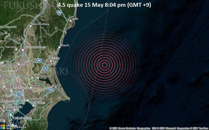 4.5 quake 15 May 8:04 pm (GMT +9)
