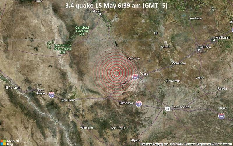 3.4 quake 15 May 6:39 am (GMT -5)