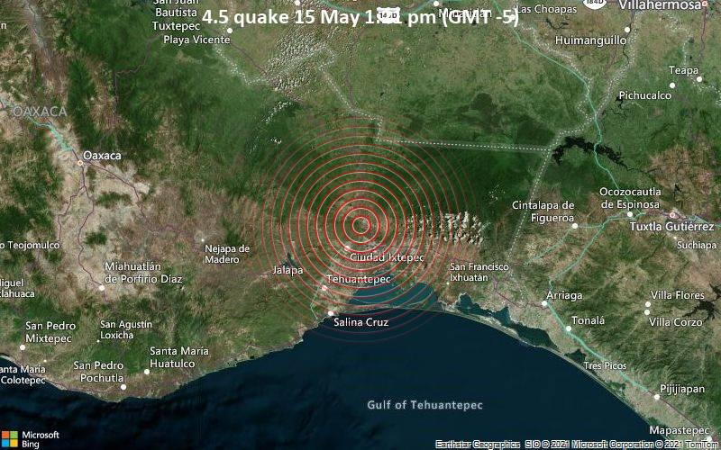4.5 quake 15 May 1:21 pm (GMT -5)
