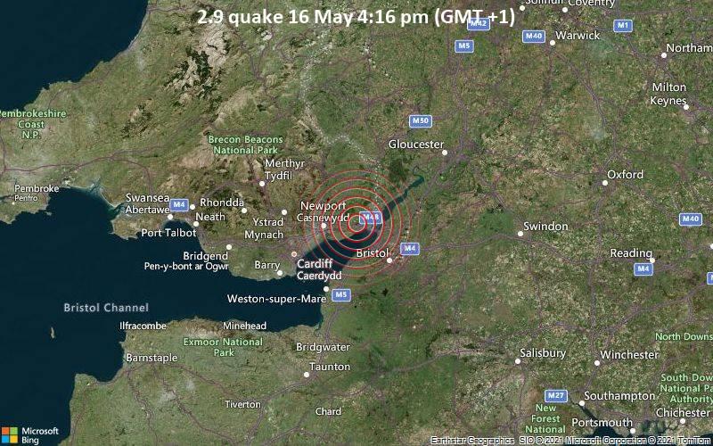 2.9 quake 16 May 4:16 pm (GMT +1)