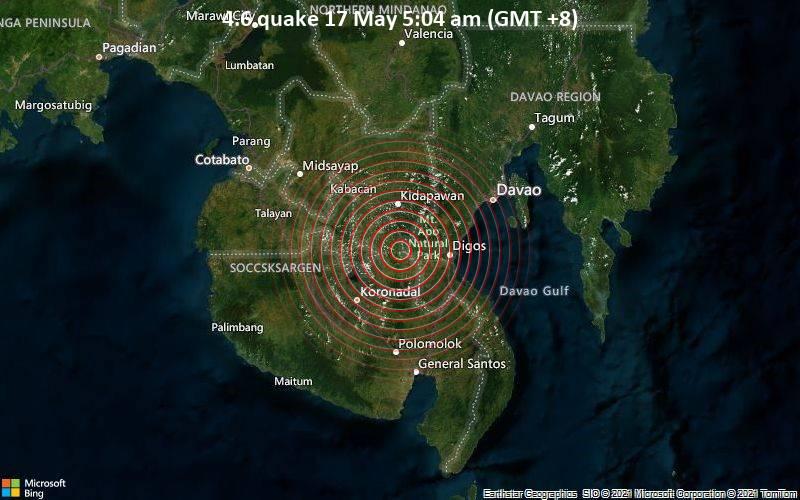 4.6 quake 17 May 5:04 am (GMT +8)