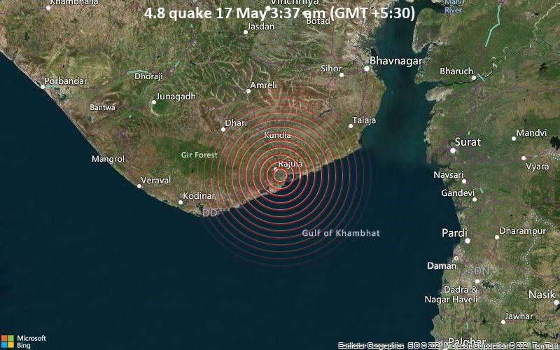4.8 quake 17 May 3:37 am (GMT +5:30)