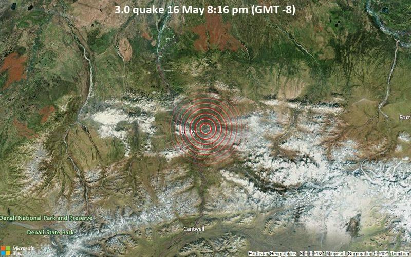 3.0 quake 16 May 8:16 pm (GMT -8)