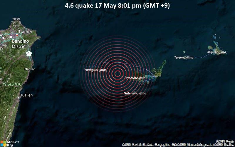 4.6 quake 17 May 8:01 pm (GMT +9)