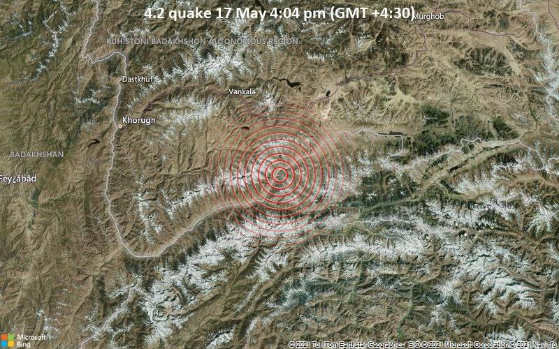 4.2 quake 17 May 4:04 pm (GMT +4:30)