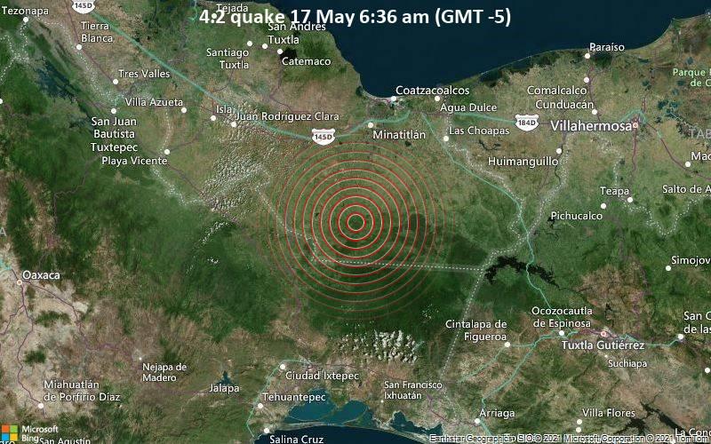 4.2 quake 17 May 6:36 am (GMT -5)