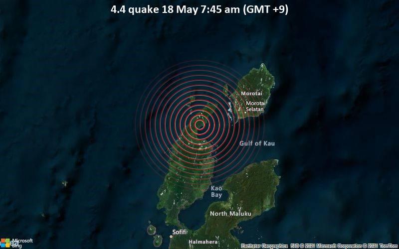 4.4 quake 18 May 7:45 am (GMT +9)