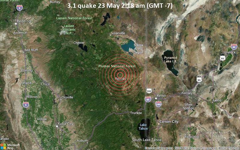 3.1 quake 23 May 2:18 am (GMT -7)
