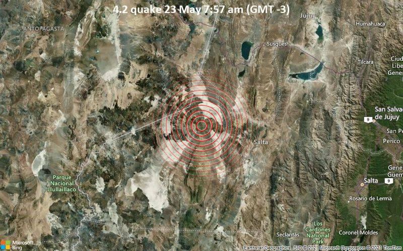 4.2 quake 23 May 7:57 am (GMT -3)