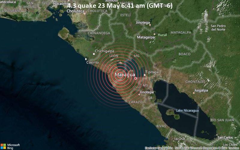 4.3 quake 23 May 6:41 am (GMT -6)