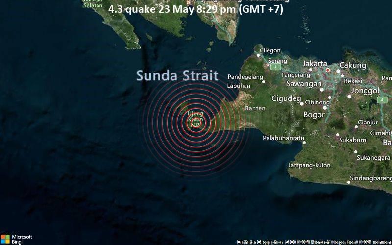 4.3 quake 23 May 8:29 pm (GMT +7)