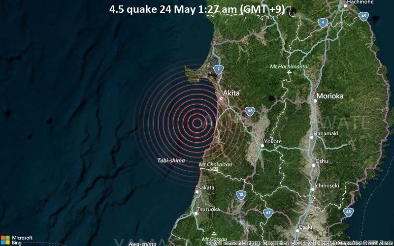 4.5 quake 24 May 1:27 am (GMT +9)