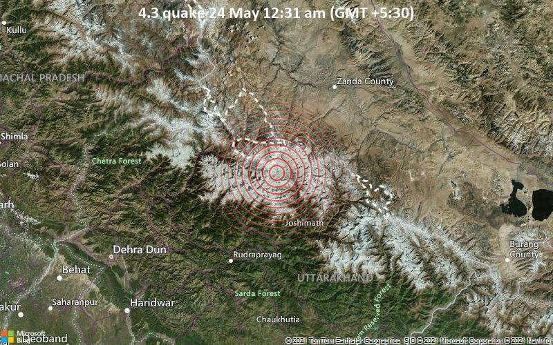4.3 quake 24 May 12:31 am (GMT +5:30)