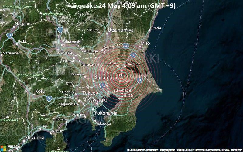 4.5 quake 24 May 4:09 am (GMT +9)