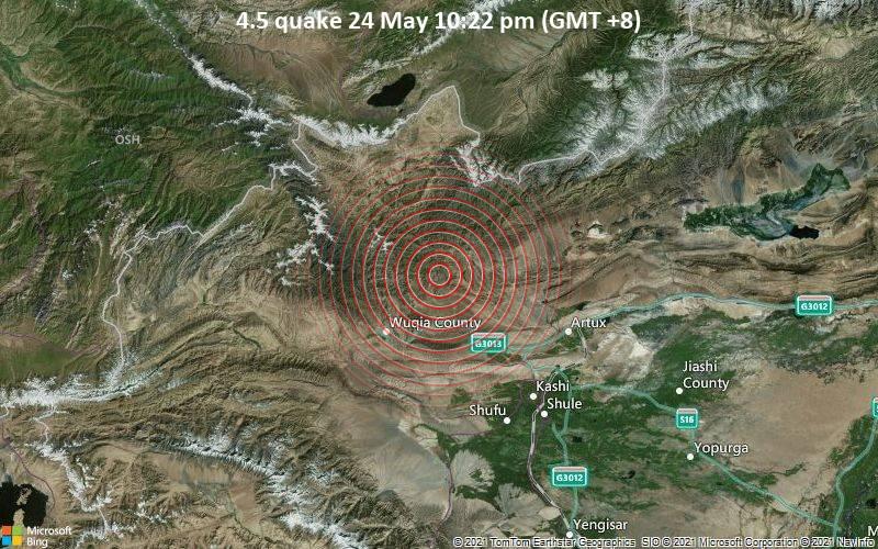 4.5 quake 24 May 10:22 pm (GMT +8)