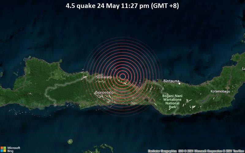 4.5 quake 24 May 11:27 pm (GMT +8)