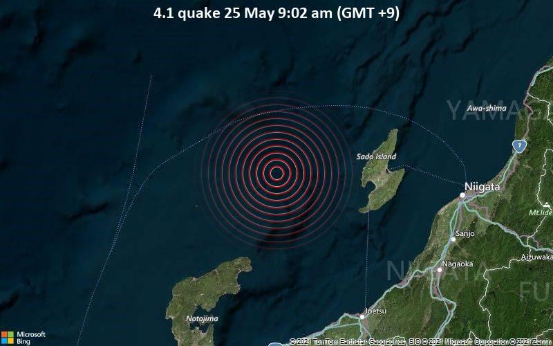 4.1 quake 25 May 9:02 am (GMT +9)