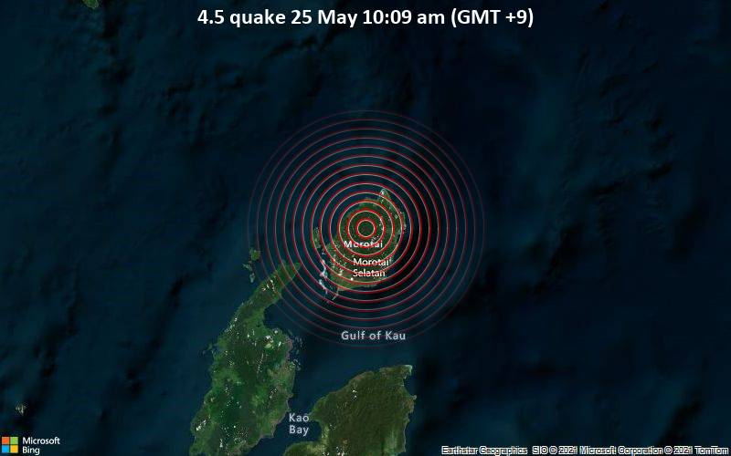4.5 quake 25 May 10:09 am (GMT +9)