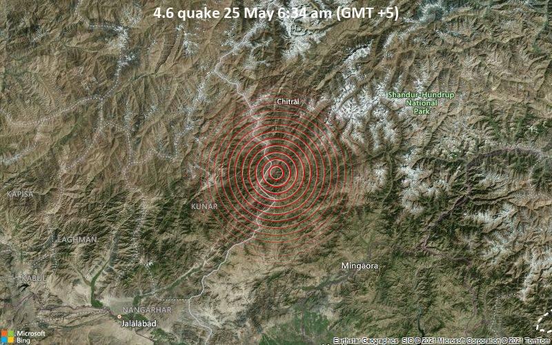4.6 quake 25 May 6:34 am (GMT +5)