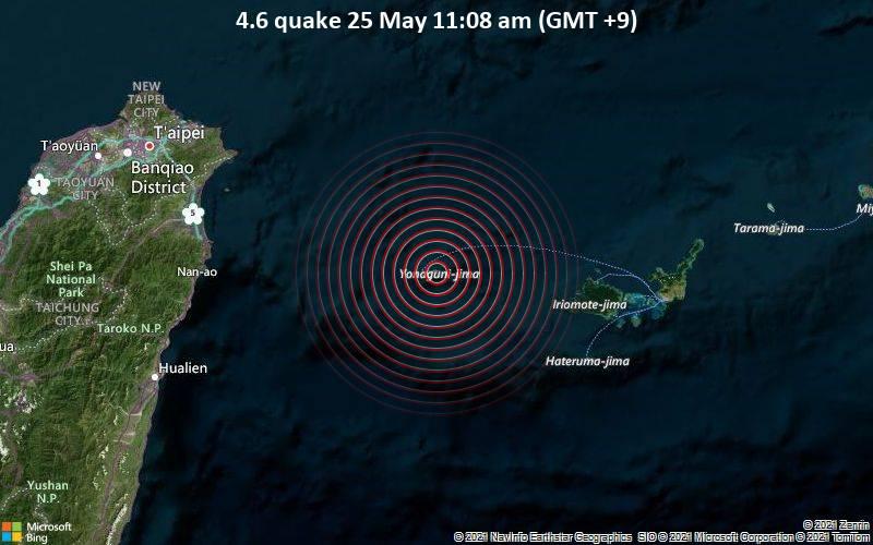 4.6 quake 25 May 11:08 am (GMT +9)