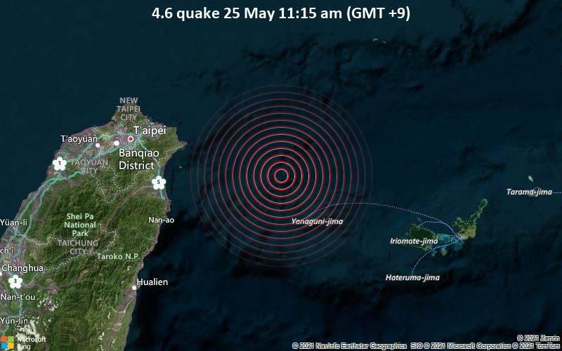 4.6 quake 25 May 11:15 am (GMT +9)