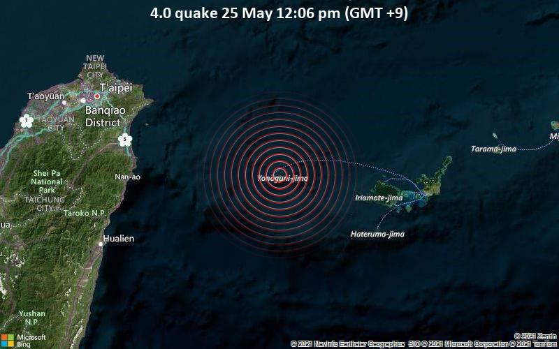 4.0 quake 25 May 12:06 pm (GMT +9)